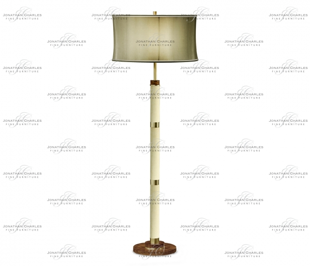 small rushmore Ivory Finish Hyedua Circular Column Floor Lamp