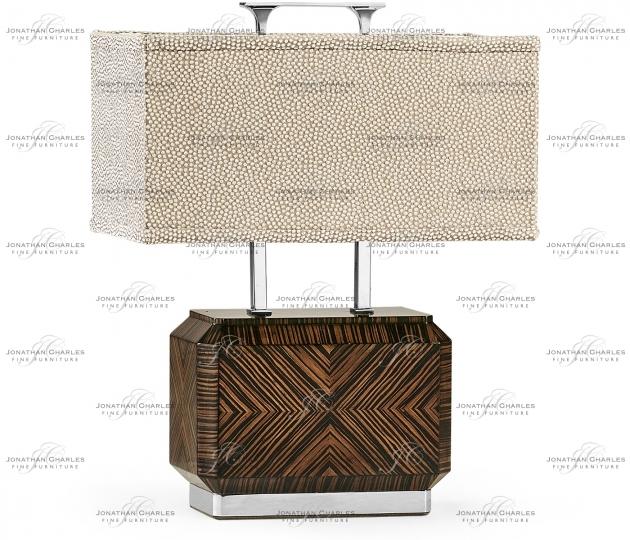 small rushmore Tea Caddy Faux Macassar Table Lamp