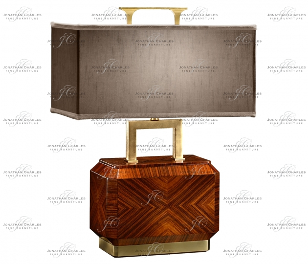 small rushmore Tea Caddy Rosewood Table Lamp