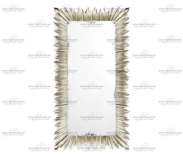small rushmore Silvered floor standing rectangular sunburst mirror