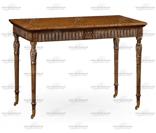 small rushmore Napoleon III style bureau plat with fine inlay