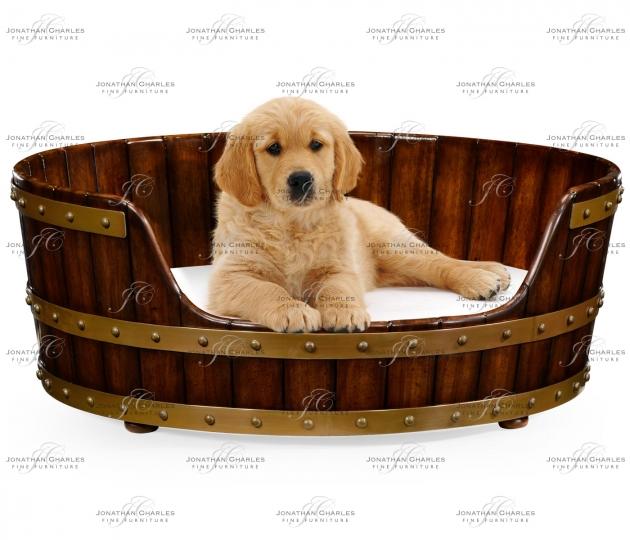 small rushmore Medium Walnut Wooden Dog Bed