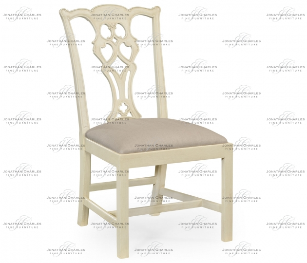 small rushmore Linen painted Chippendale style classic walnut side chair
