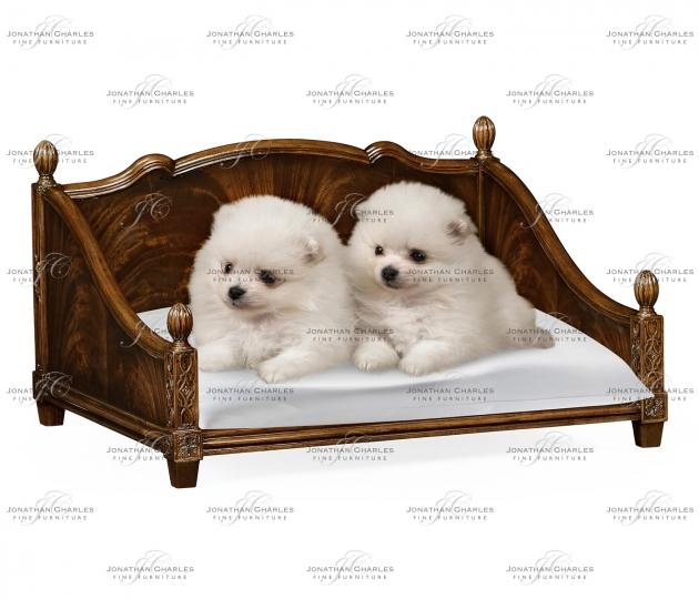 small rushmore Rectangular Four Poster Mahogany Dog Bed