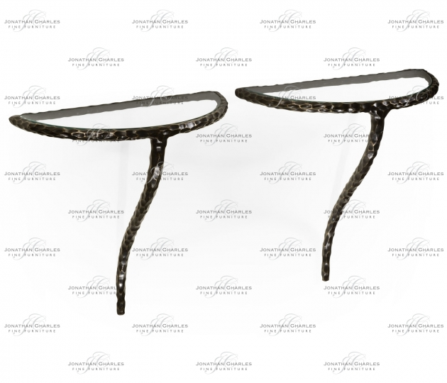 small rushmore Bronze hammered pair wall bracket tables