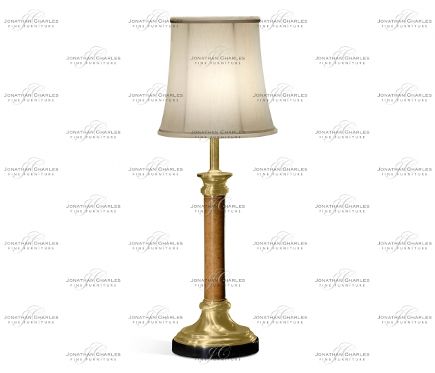 small rushmore Brass and leather table lamp