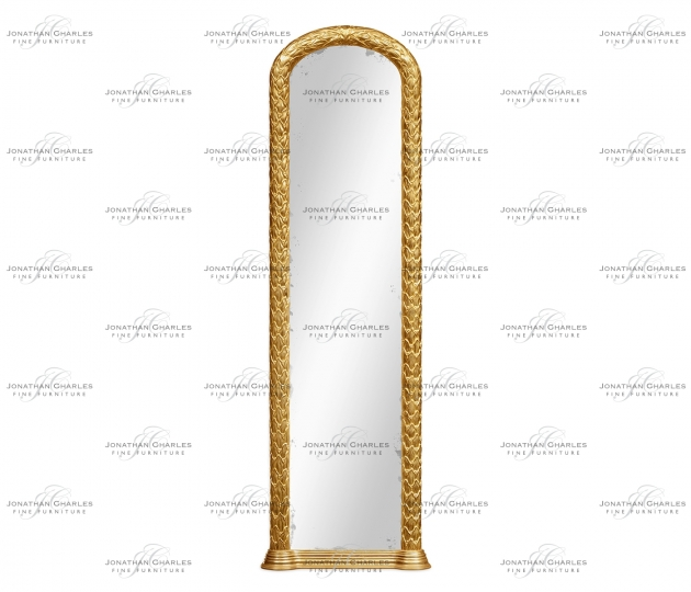 small rushmore Carved and water gilded gold leaf narrow floor standing mirror