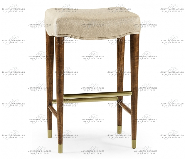 small rushmore Cosmo Bar Stool, Upholstered in MAZO