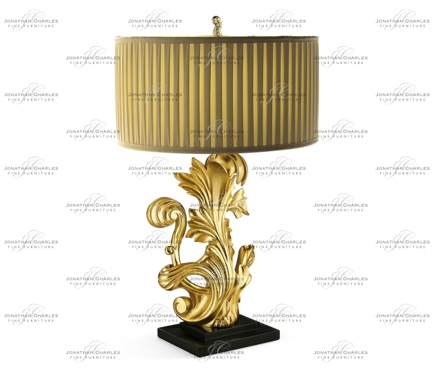 small rushmore Gold-leaf gilded carved table lamp