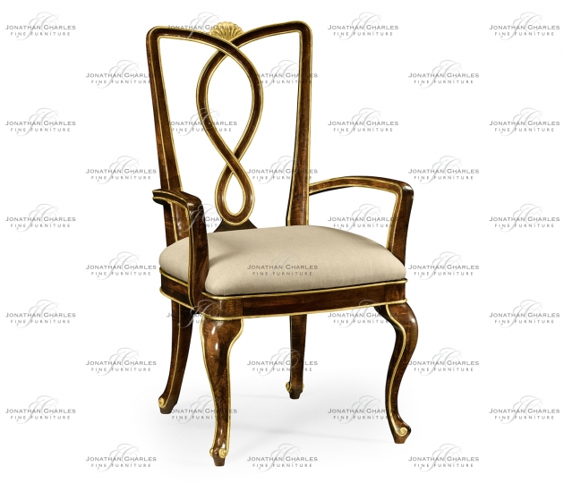 small rushmore Antique Mahogany Brown Dining Arm Chair