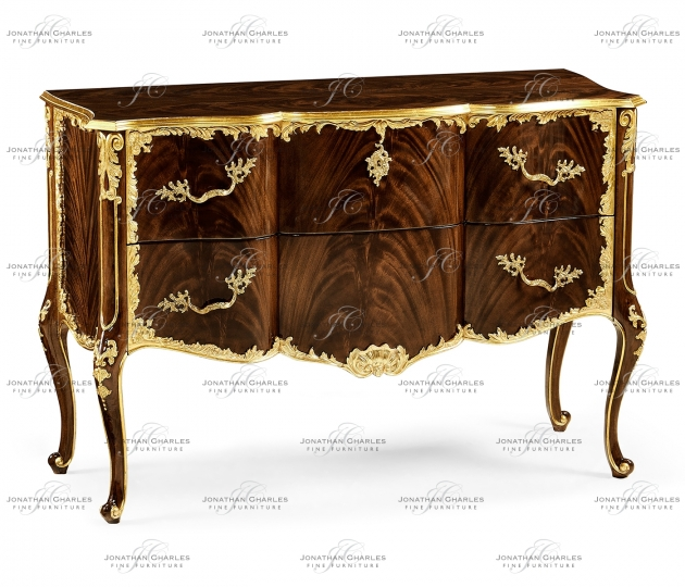 small rushmore Mahogany chest of drawer with gilded