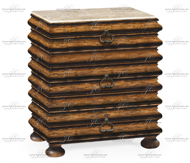 small rushmore Rectangular Rustic Walnut Chest of Drawers