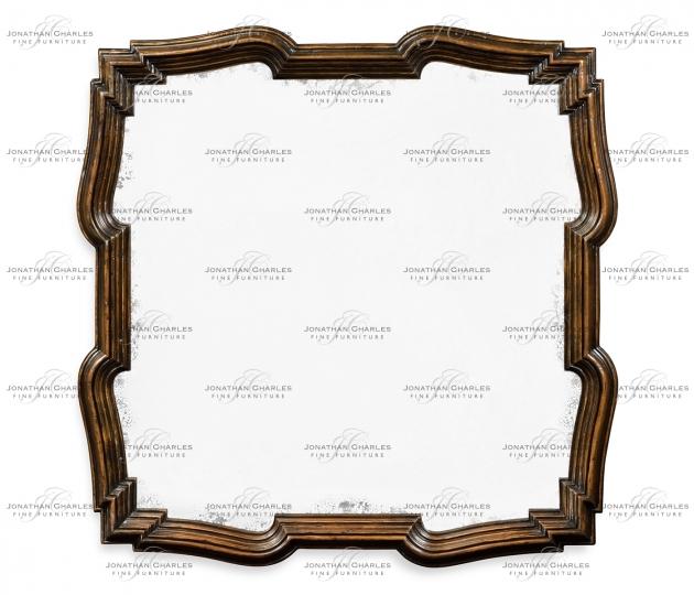 small rushmore Rustic Walnut Antique Mirror