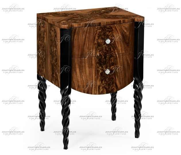 small rushmore Black Barleytwist Bedside Chest