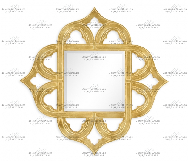 small rushmore Gilded gold-leaf mirror