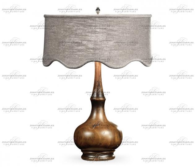small rushmore Rustic Walnut Wood Table Lamp