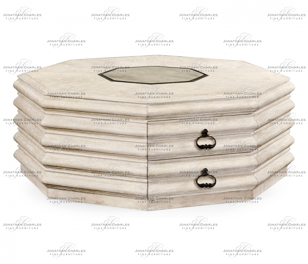 small rushmore Octagon limed acacia coffee table