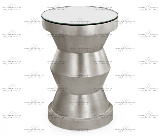 small rushmore Silver-leaf gilded round wine table