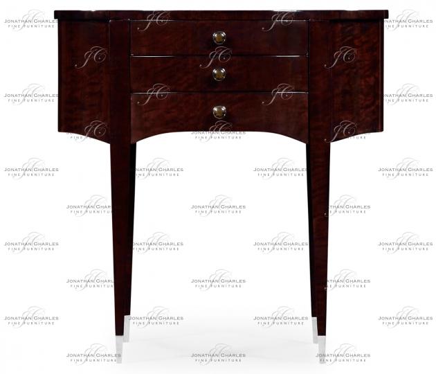 small rushmore Black Eucalyptus Kidney Shaped Side Table
