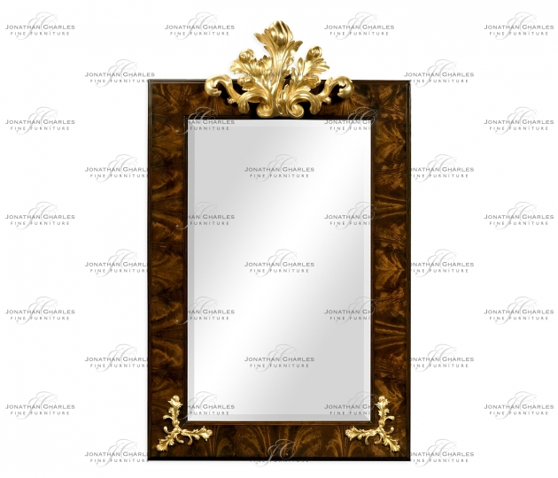 small rushmore Hallway mirror with gilded carving