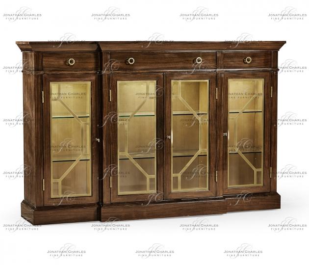 small rushmore Dark Rosewood Four-Door Display Cabinet