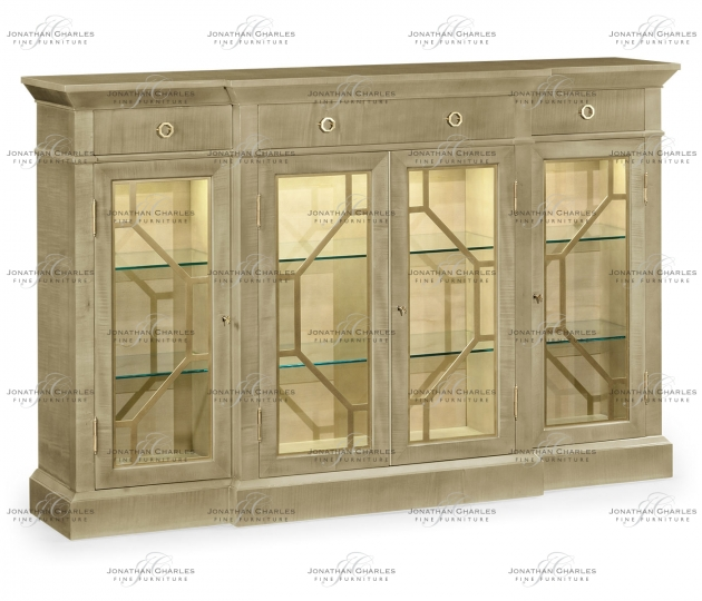 small rushmore Champagne Four-Door Display Cabinet