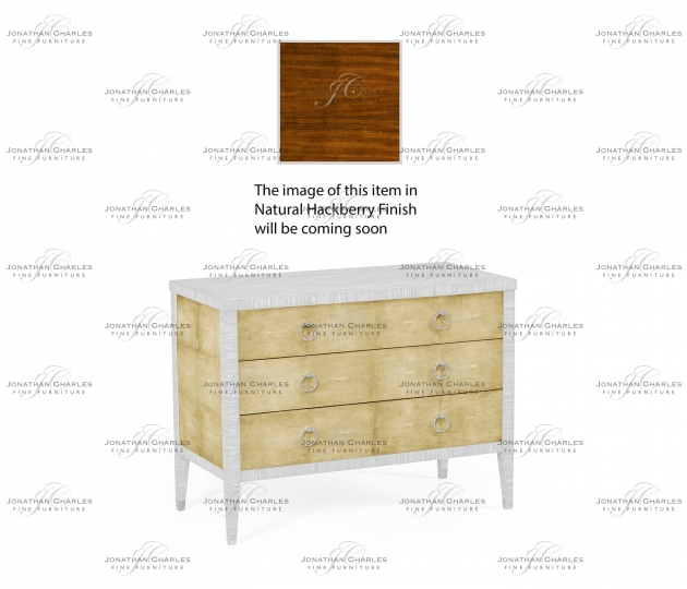 small rushmore Ivory Faux Shagreen 3-Drawer Chest of Drawers