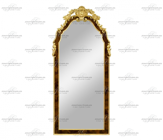 small rushmore Standing mirror with gilt carved detailling