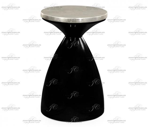 small rushmore Round Smoky Black & Silver Espresso Wine Table
