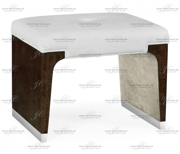 small rushmore Black Eucalyptus Dressing Stool, Upholstered in COM by Distributor