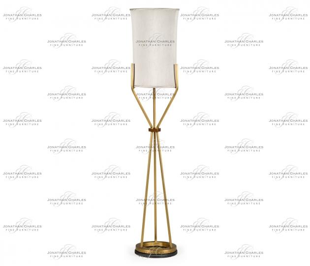 small rushmore Circular Brass Floor Lamp