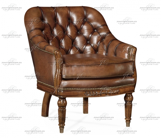 small rushmore Mahogany club chair, upholstered in parliament red leather