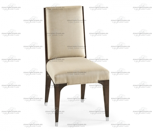 small rushmore Black Eucalyptus Dining Side Chair, Upholstered in MAZO