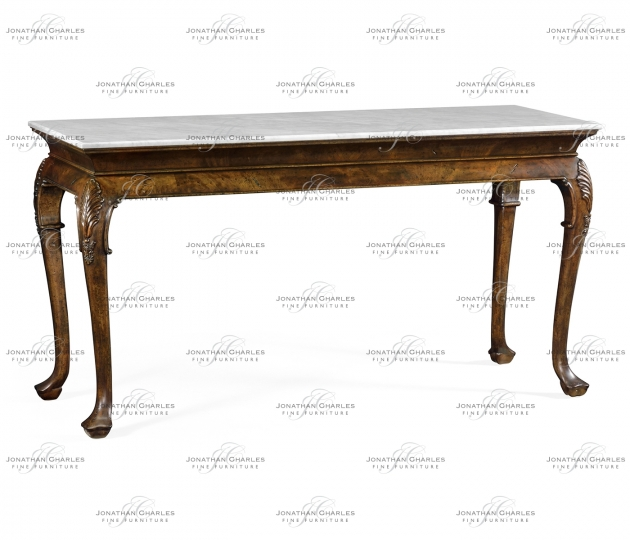 small rushmore Brown mahogany buffet table with marble top