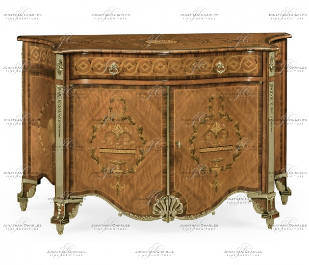 small rushmore Chippendale style inlaid cabinet chest of drawers