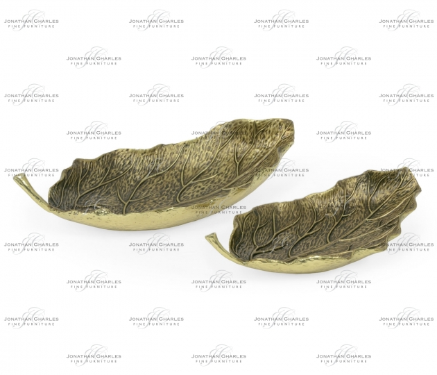 small rushmore Pair of Antique Brass Leaves