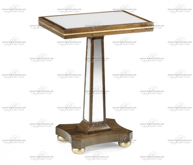 small rushmore Berkley Antique Mirror Accent Table