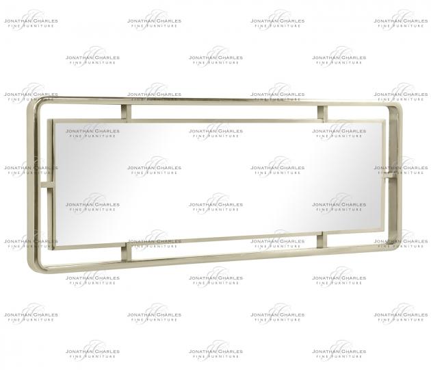 small rushmore Madison Rectangular Rounded Corner White Stainless Steel Hanging Wall Mirror