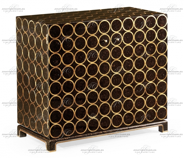 small rushmore Berkley Tortoise with Gilded Circles Storage Cabinet