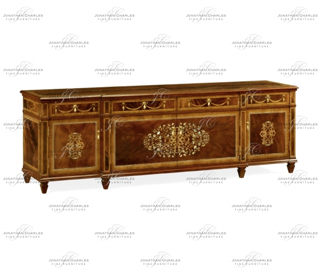 small rushmore Low Mahogany & Mother of Pearl Entertainment Unit