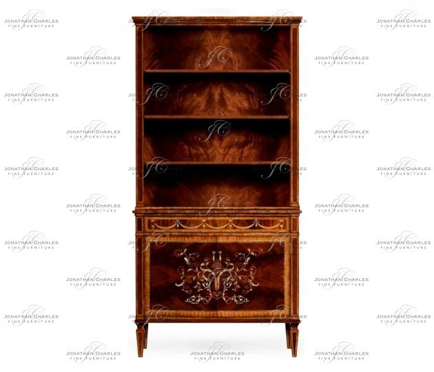 small rushmore Tall Mahogany Bookcase