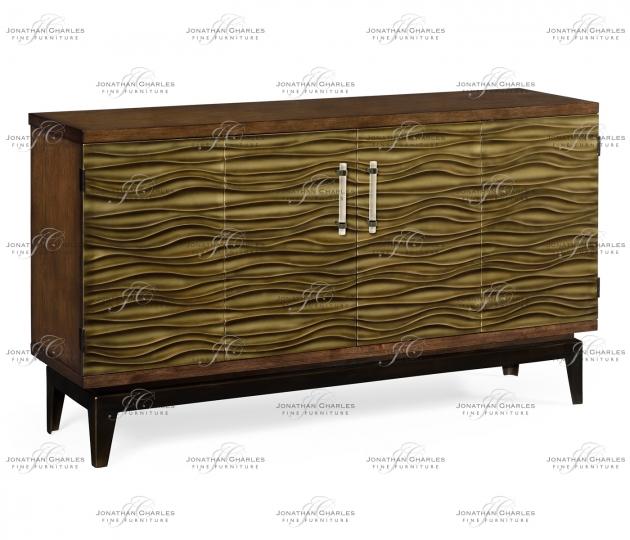 small rushmore Textured Chestnut Storage Cabinet