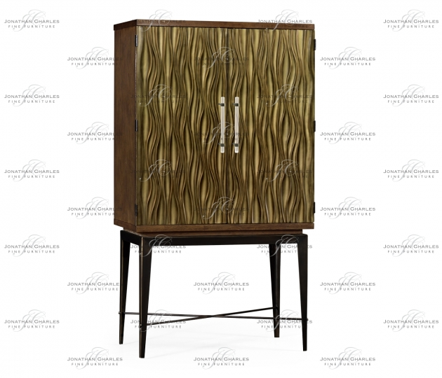 small rushmore Textured Chestnut Drinks Cabinet