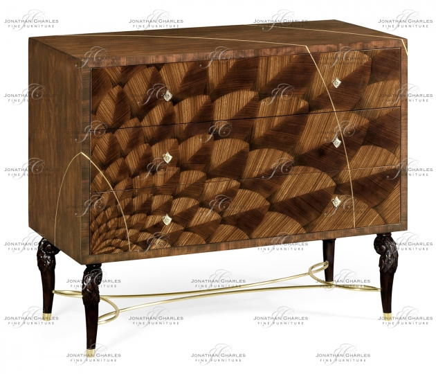 small rushmore Feather Inlay Chest of Drawers