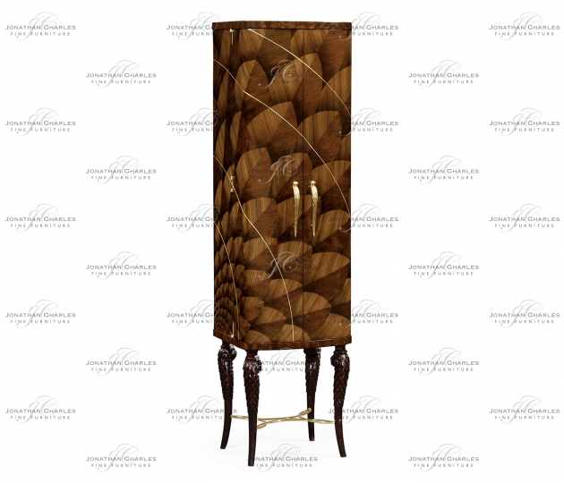 small rushmore Feather Inlay Drinks Cabinet