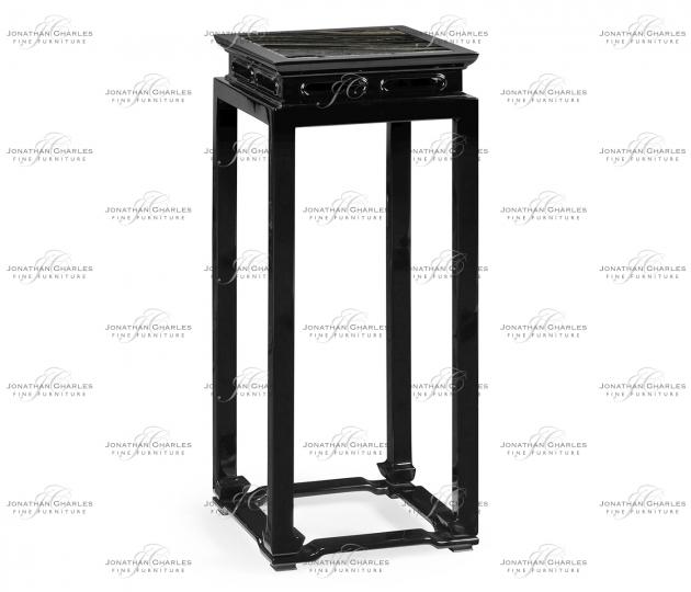 small rushmore Black Gloss Console Table