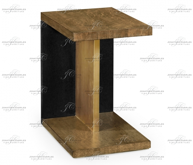small rushmore Rectangular Cut-Out Oak End Table
