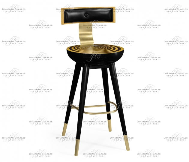 small rushmore Swivel Bar Stool with Back Support