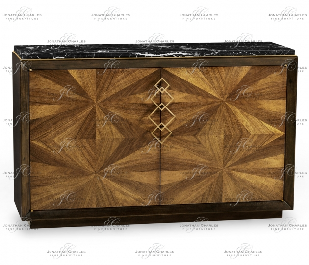 small rushmore Bookmatched Walnut Sideboard