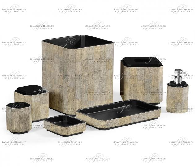 small rushmore Black Brushed Eggshell Bathroom Accessory Set